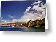 The Bay Of Sorrento Greeting Card