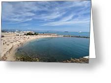 The Beach At Cap D' Antibes Greeting Card