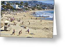 The Beach At Laguna Greeting Card