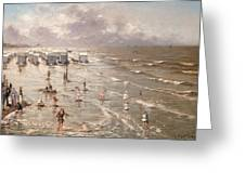 The Beach At Ostend Greeting Card