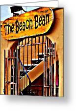 The Beach Bean Greeting Card