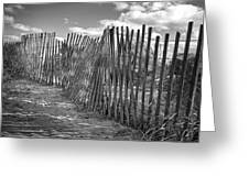 The Beach Fence Greeting Card by Scott Norris