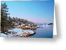 The Beach In December Greeting Card