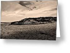 The Beach In Sepia Greeting Card