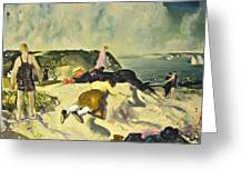 The Beach Newport Greeting Card by George Wesley Bellows