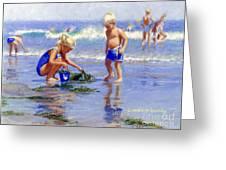 The Beach Pail Greeting Card