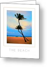 The Beach Poster Greeting Card