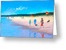 The Beach Walkers Greeting Card