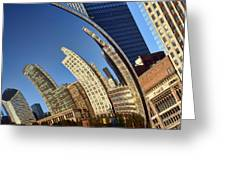 The Bean - 1 - Cloud Gate - Chicago Greeting Card