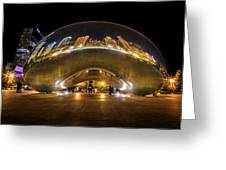 The Bean Chicago Greeting Card