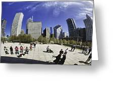 The Bean In Chicago-002 Greeting Card