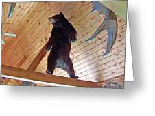 Come And Get Me Down From Here...signed The Bear Greeting Card