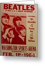 The Beatles 1st U.s. Concert Greeting Card