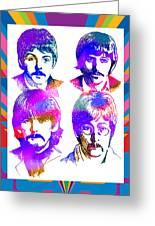 The Beatles Art Greeting Card