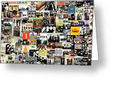 The Beatles Collage Greeting Card
