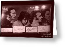 The Beatles In Old Photo Process At Fudruckers Greeting Card