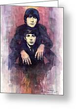 The Beatles John Lennon And Paul Mccartney Greeting Card