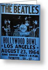 The Beatles Live At The Hollywood Bowl Greeting Card