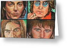 The Beatles Quad Greeting Card
