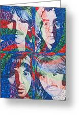 The Beatles Squared Greeting Card