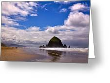 The Beautiful Cannon Beach Oregon Greeting Card by David Patterson
