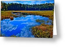 The Beautiful Cary Lake - Old Forge New York Greeting Card