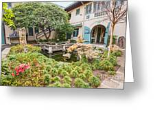 The Beautiful Courtyard Of The Pacific Asia Museum In Pasadena. Greeting Card