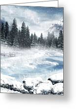 The Beautiful Gothic Winter Greeting Card by Boon Mee