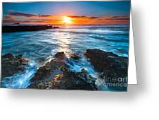 The Beautiful Sunset Beach Greeting Card by Boon Mee