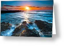 The Beautiful Sunset Beach Greeting Card