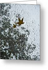 The Beauty Of Autumn Rains - A Vertical View Greeting Card