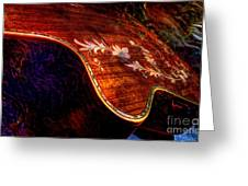 The Beauty Of Inlay Digital Guitar Art By Steven Langston  Greeting Card