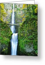 The Beauty Of Multnomah Falls Greeting Card