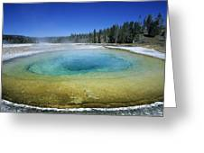 The Beauty Pool Yellowstone Np Wyoming Greeting Card