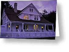 The Bed And Breakfast At Heceta Greeting Card