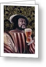 The Beer Drinker Greeting Card
