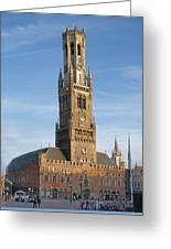 The Belfry Of Bruges Greeting Card