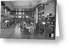 The Bell Telephone Exchange In Greeting Card