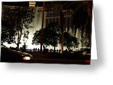 The Bellagio At Night Greeting Card