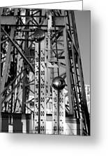 The Bells Of Coney Island In Black And White Greeting Card