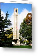 The Belltower At Nc State University Greeting Card