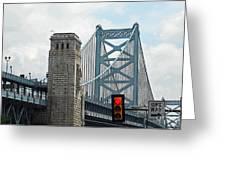 The Ben Franklin Bridge Greeting Card