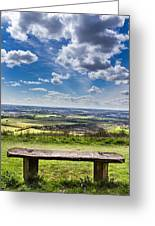 The Bench. Greeting Card