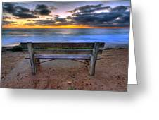 The Bench II Greeting Card by Peter Tellone