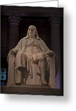 The Benjamin Franklin Statue Greeting Card