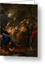 The Betrayal Of Christ Greeting Card by Anthony Van Dyck