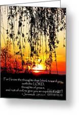 The Bible Jeremiah Twentynine Greeting Card