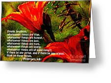 The Bible Philippians 4 Greeting Card