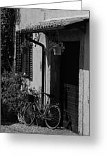 The Bicycle Under The Porch Greeting Card