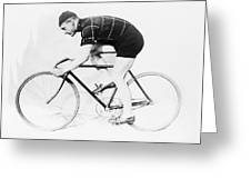The Bicyclist - 1914 Greeting Card